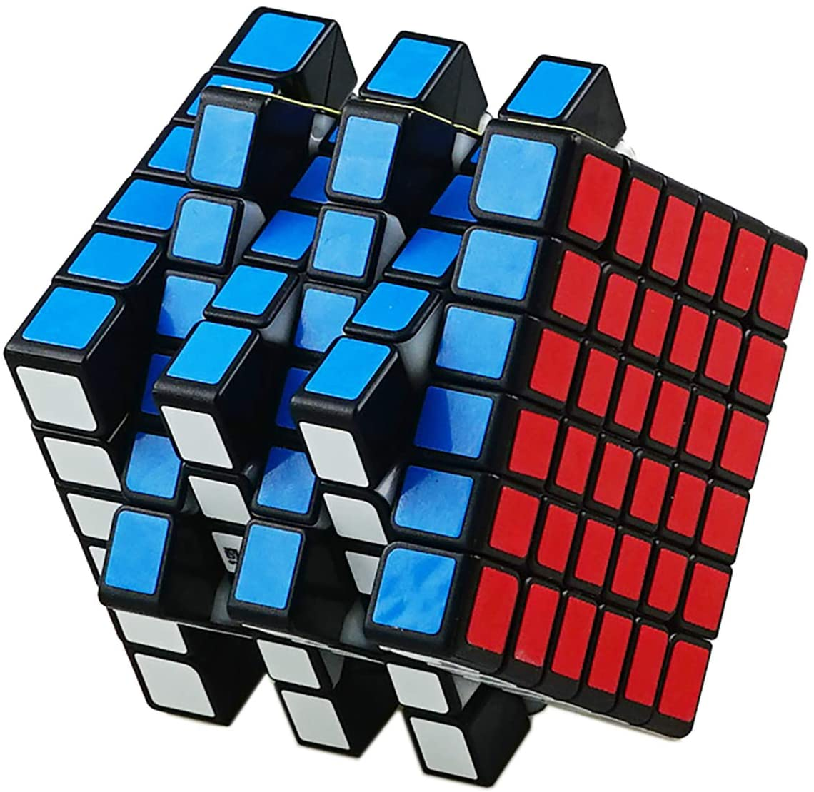 Ahyuan 6x6 Speed Cube Qiyi 6 by 6 Speed Cube 6x6x6 Magic Cube Puzzle Game Toy Black for Teenagers and Adults