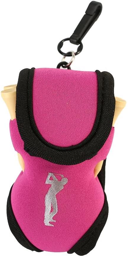 SolUptanisu Mini Golf Ball Waist Bag,Protable Golf Ball Bag Holder Pouch Small Waist Storage Pack with 2 Ball and 4 Tees,3 Colors Optional