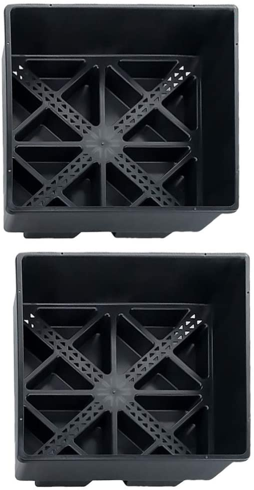 YARNOW 2pcs Seedling Starter Trays Propagator for Seed Starting and Growing Plastic Trays for Plant Germination and Seedling Propagation (Black)