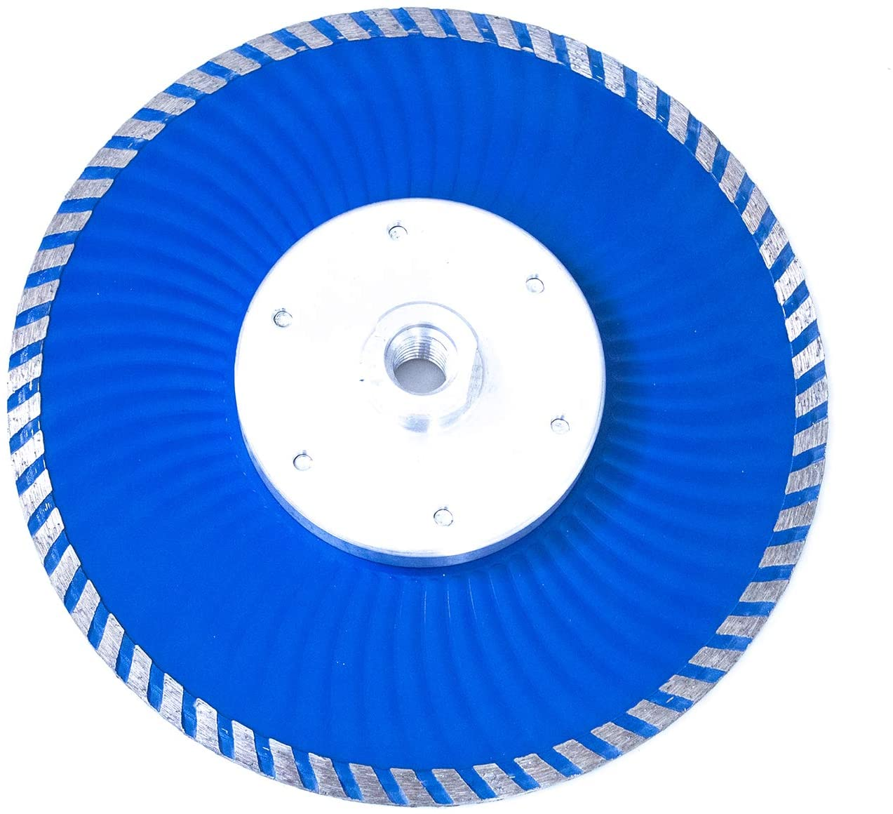 MAX-CRAFT 1 Pcs Diameter 7 Inch Cold-Pressed Continuous Diamond Saw Blades Turbo Wave with Flange Diamond Cutting Disc. For Stone Concrete Brick Tile Granite Marble Masonry (7 INCH-1 PC)
