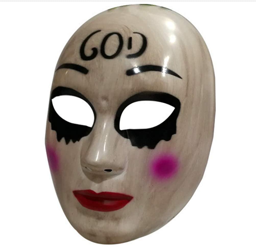 Gmasking 2018 The Horror Killer Women God Mask Halloween Party Costume Props
