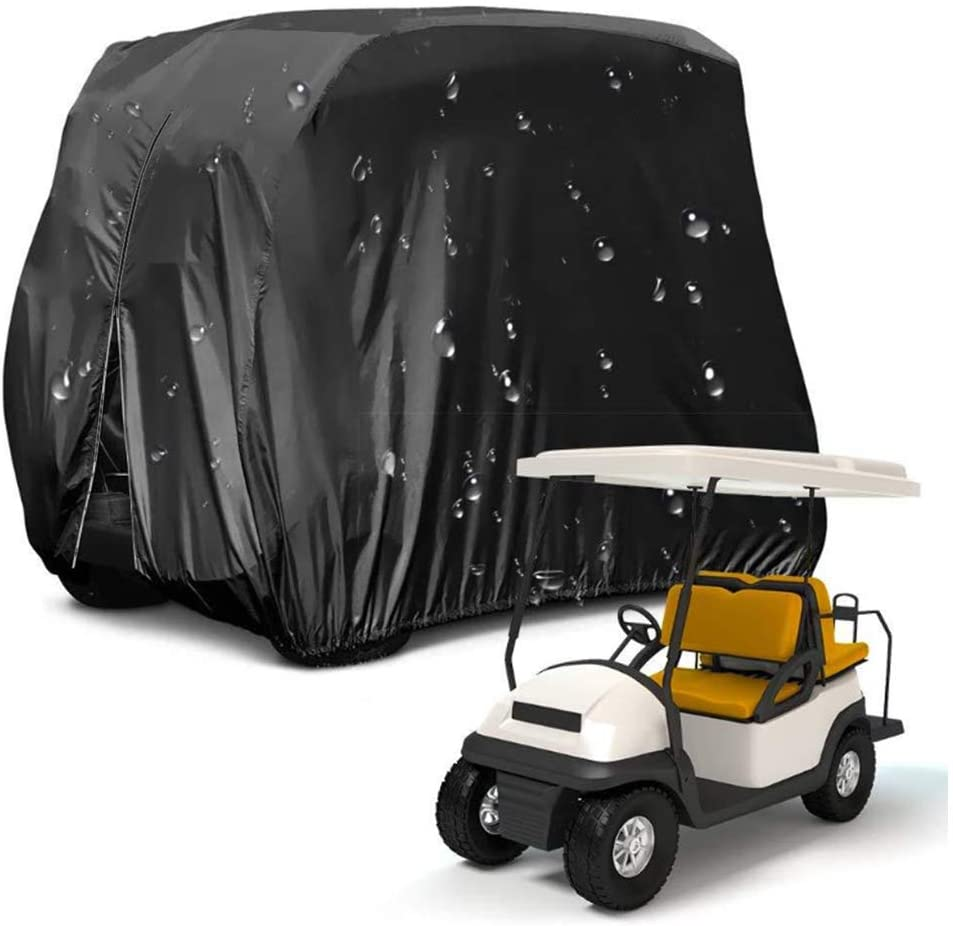 Universal Golf Cart Cover,Golf Cart Enclosure Rainproof Waterproof Sunproof Dustproof Protection Cover,Two Side Zippers,4 Passenger Golf Cart Storage Cover For Golfers,Bosses,Husbands,Fathers