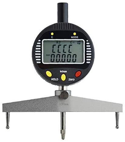 GLTL Multi-functions digital radius gauge digital radius indicator Measurement Tool with 10/20/30/60/100mm changeable measuring jaw