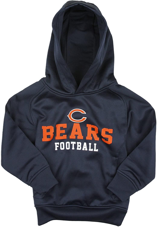 Outerstuff Chicago Bears NFL Little Boys Team Performance Fleece Hoodie - Navy