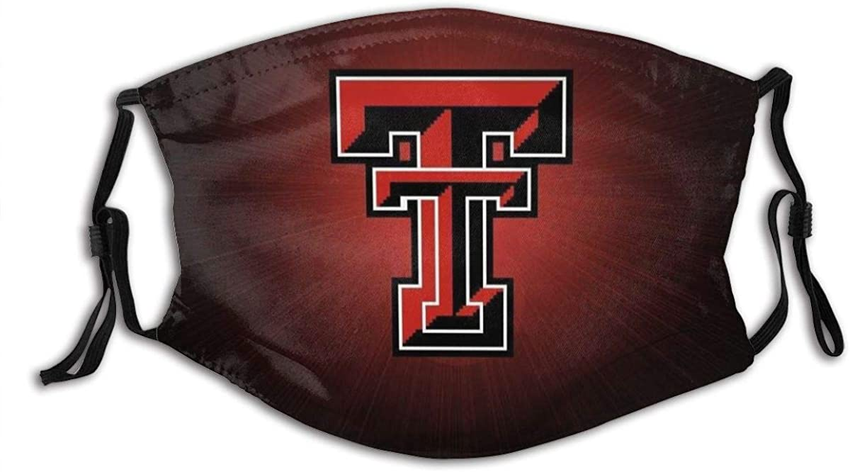 Cotton Dust Texas Tech Red Raiders Mouth Face Masks Mouth Cover Washable Reusable Face Shield Banada Balaclava for Men & Women