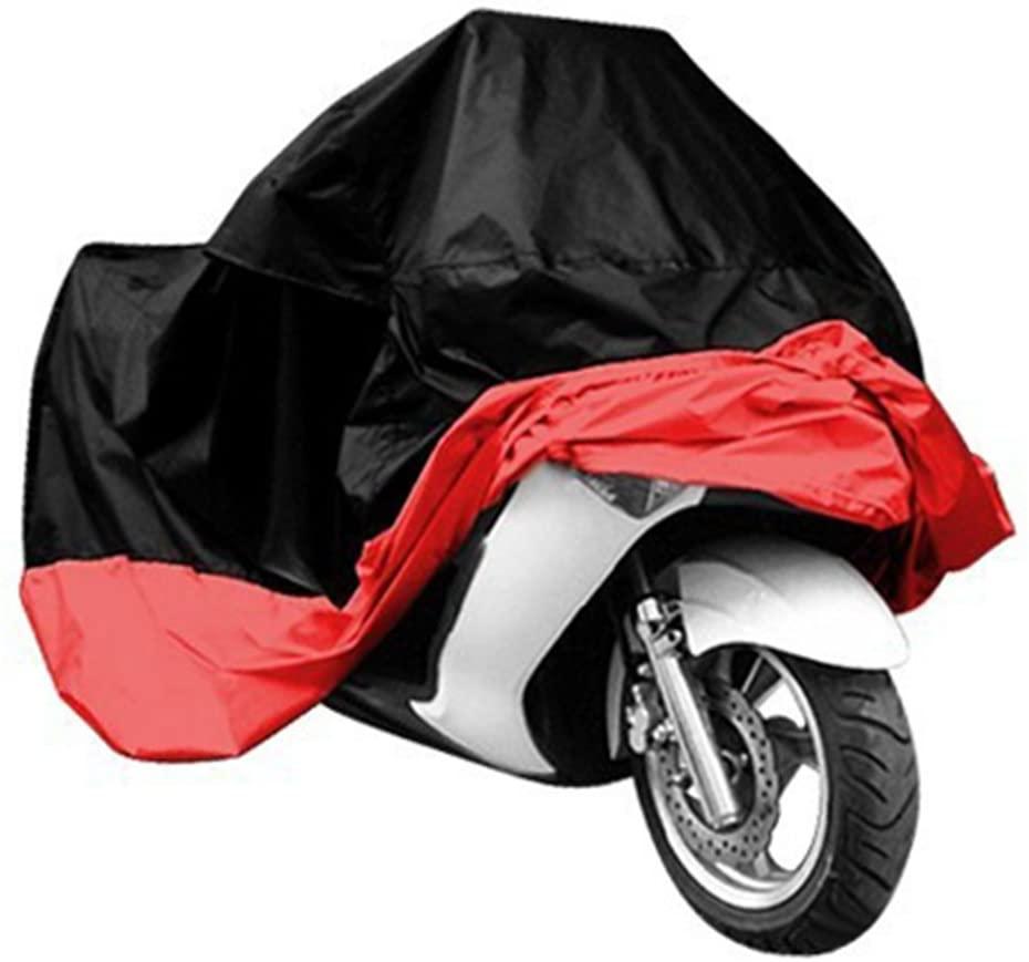 Motorcycle Cover,Ourdoor Cover,Rhegene 1 piece Outdoor Cover for Motorcycle Scooter Bike Motorbike Rain Waterproof Dustproof UV Resistant Protector Anti-scratch Black Red XL