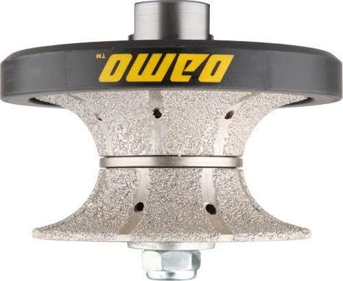 DAMO V40 1-1/2 inch Full Bullnose Coarse Diamond Hand Profiler Router Bit Profile Wheel with 5/8-11 Thread for Granite Concrete Marble Countertop Edge
