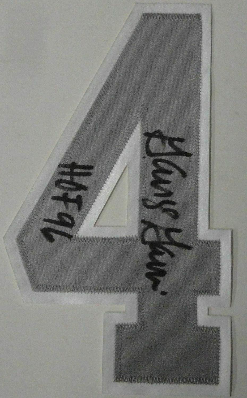 George Gervin Signed Autographed Jersey Number 4 San Antonio Spurs (Number Only) - Autographed NBA Jerseys
