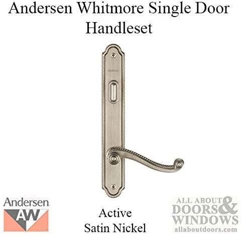 Andersen Whitmore Style (Single Active) Hinged Door Hardware Set in Satin Nickel