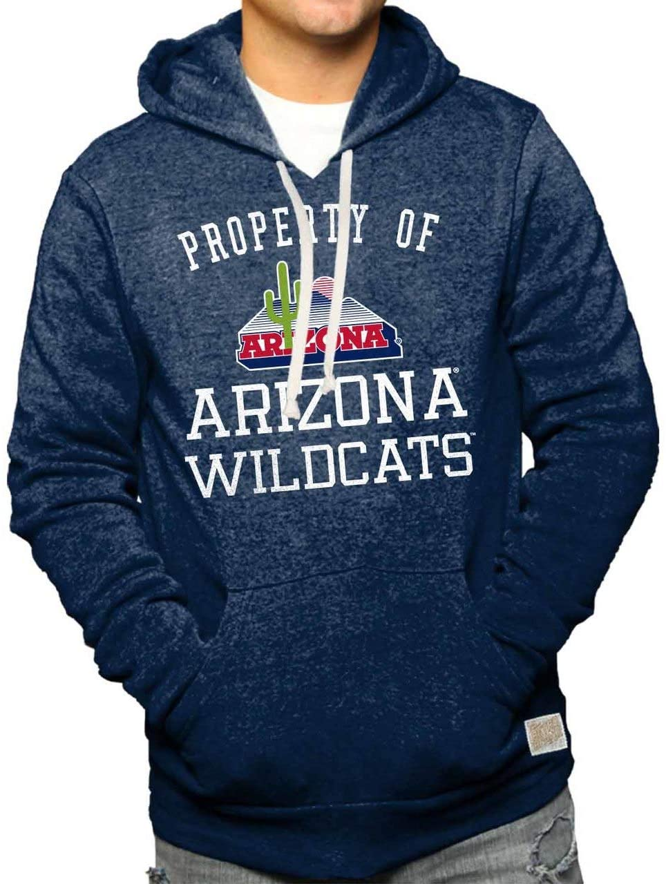 Original Retro Brand Arizona Wildcats Property of Tri-Blend Hooded Sweatshirt - Navy