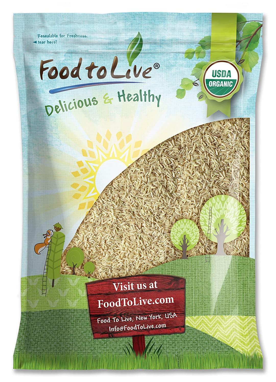 Organic Thai Jasmine Brown Rice, 8 Pounds — Non-GMO, Raw, Whole Grain, Non-Irradiated, Kosher, Vegan, Bulk