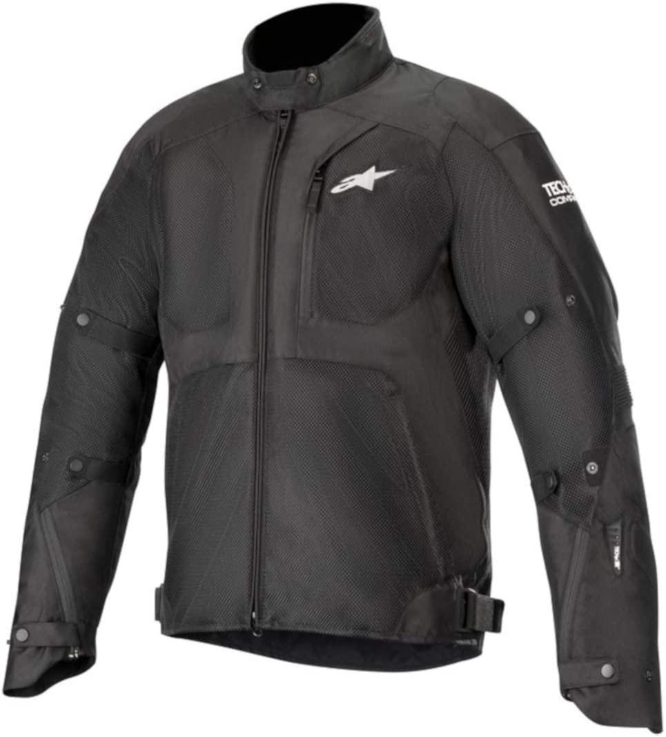 Alpinestars Men's Tailwind Air Waterproof Motorcycle Jacket (Tech-Air Compatible), Black, Large