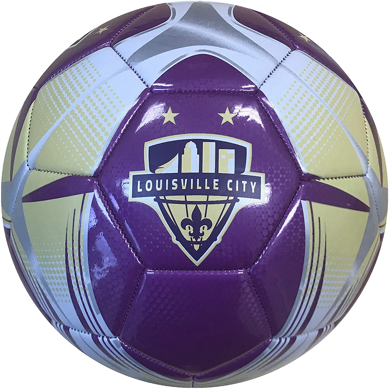 Icon Sports Unisex USL Louisville City FC Officially Licensed Soccer Ball, Size 5