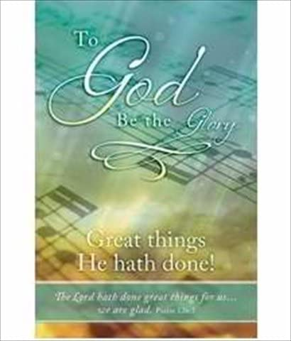 Bulletin-To God Be The Glory