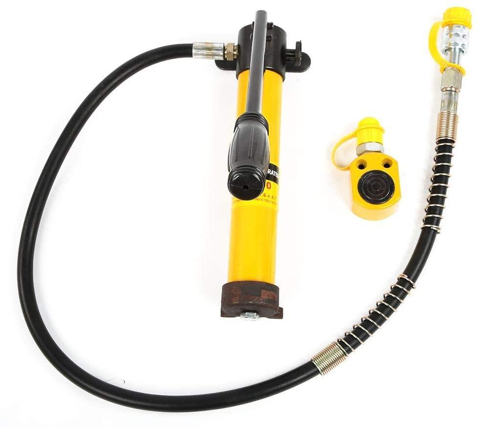 wosume Split Type 5 Ton Hydraulic Jacks with 700/20 kg/cm² Manual Hydraulic Pump