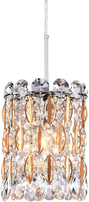 PAPAYA Mini Chandelier, Crystal Chandelier Lighting, Round Pendant Light, Modern Chandelier Lighting Fixture for Bedroom, Hallway, Bar, Kitchen, Bathroom