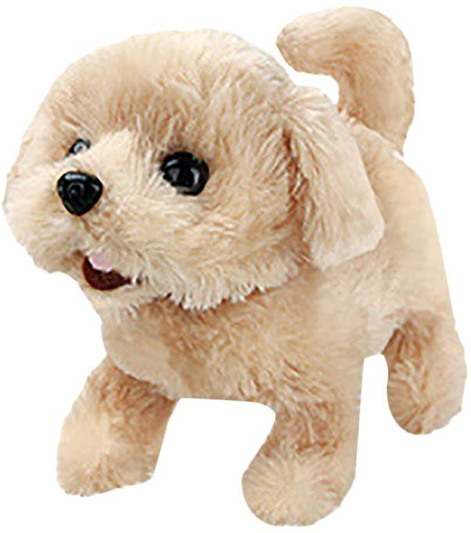 ValueVinylArt Simulation Toy Dog, Electric Children's Toy Dog, Toy Electronic Interactive Pet Dog-Walking, Barking, Tail Wagging, Children's Companion Toy (A)