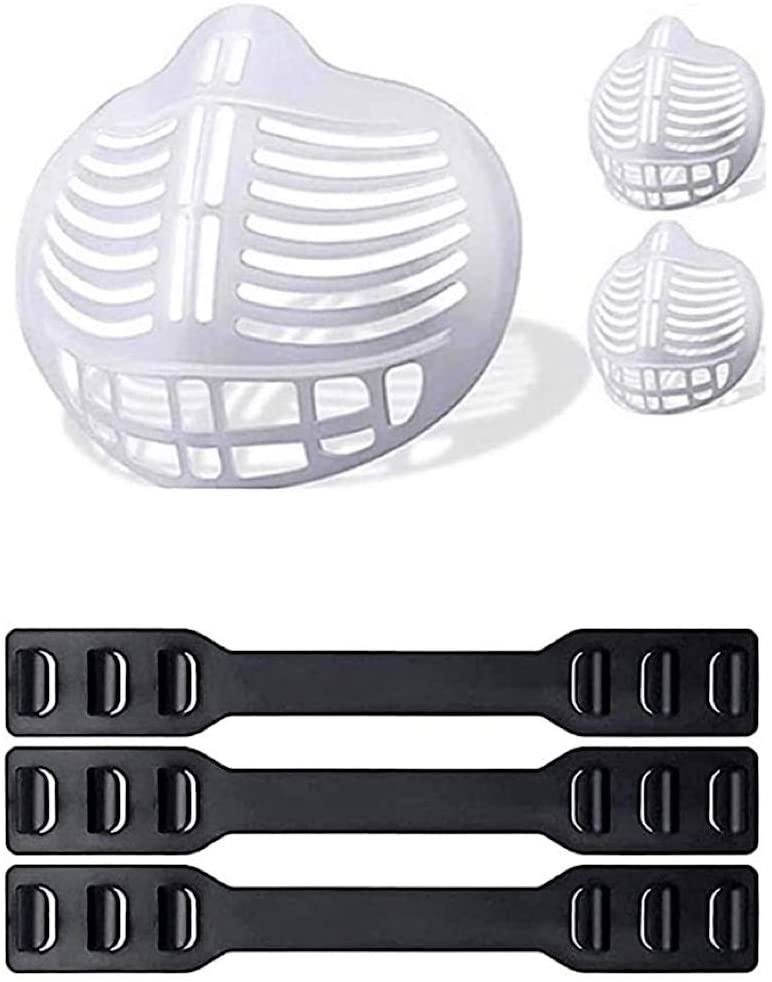 Bakhais Silicone Mask Bracket insert - Lipstick Protection for Comfortable Mask Wearing - Internal Support Frame Holder Nose Mouth - 3PCS For Men Women Kids