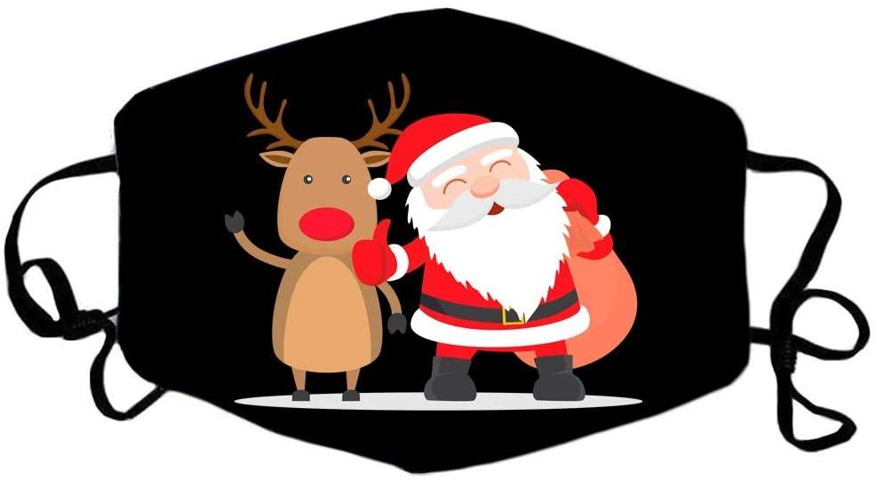ShaggyDogz Adults Christmas Cute Pattern Washable Reusable Adjustable Bandanas Unisex for Woman Man Breathable Costume Outdoor Festival Party