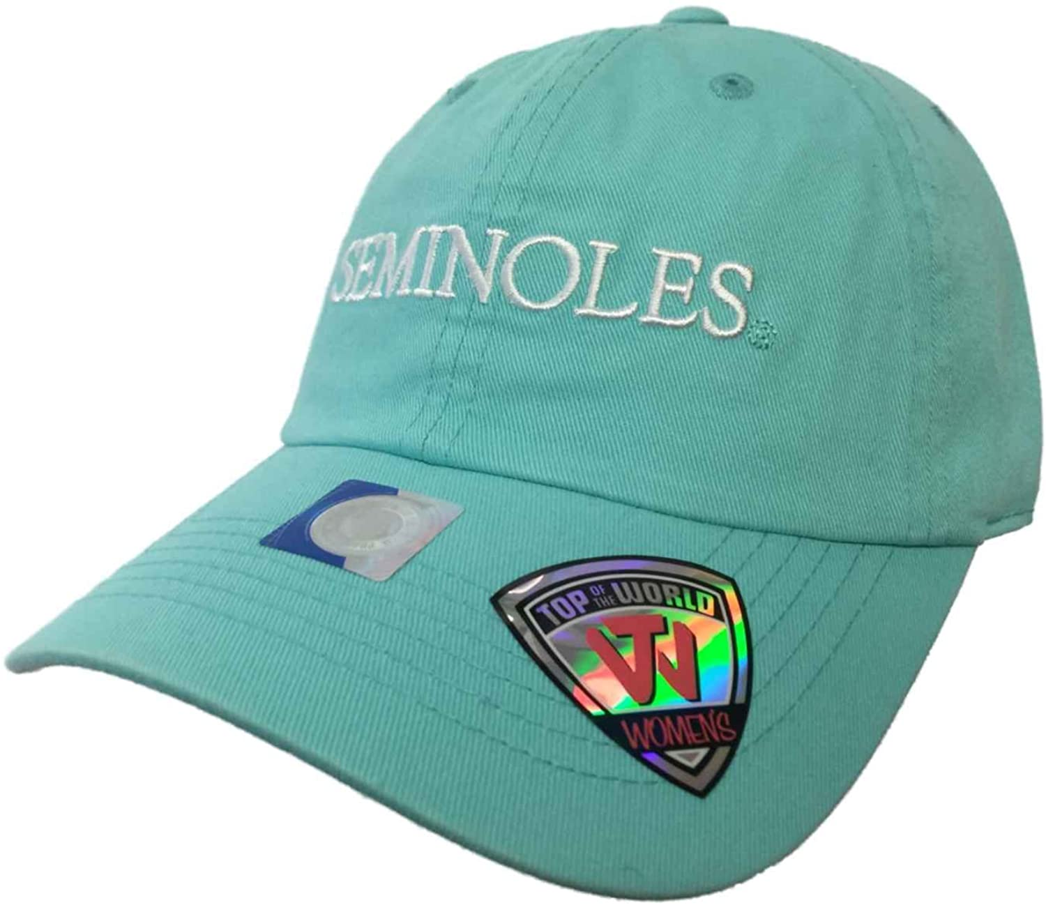 Top of the World Florida State Seminoles Tow Women's Mint Green Seaside Adjustable Slouch Hat Cap