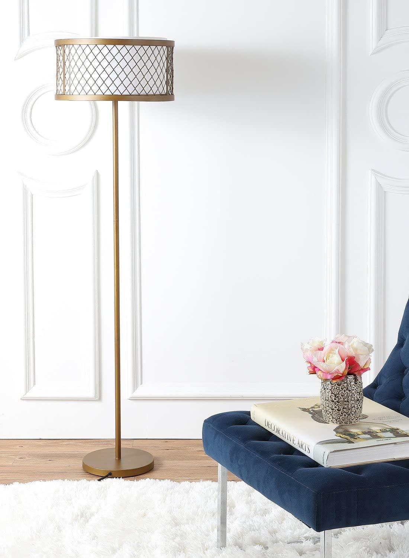 Safavieh Lighting Collection Evie Antique Gold 58.25-inch Floor Lamp