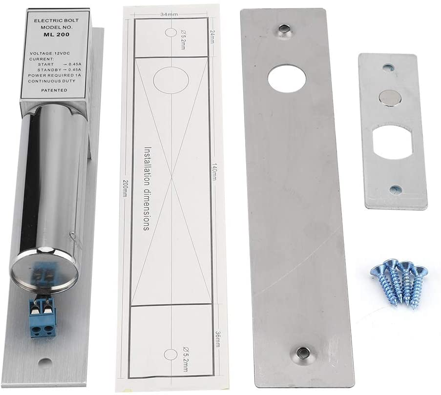 HelloCreate DC 12V Electric Door Lock Magnetic Induction Glass Metal Door Locking Security System