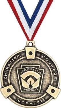 Crown Awards Little League Medals - 2 Great for Baseball, Softball, Kids