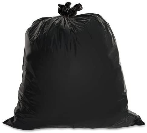 Heavy-Duty Trash Bags, 1.5 Mil, 40-45 Gallon, 50/BX, Black, Sold as 1 Box