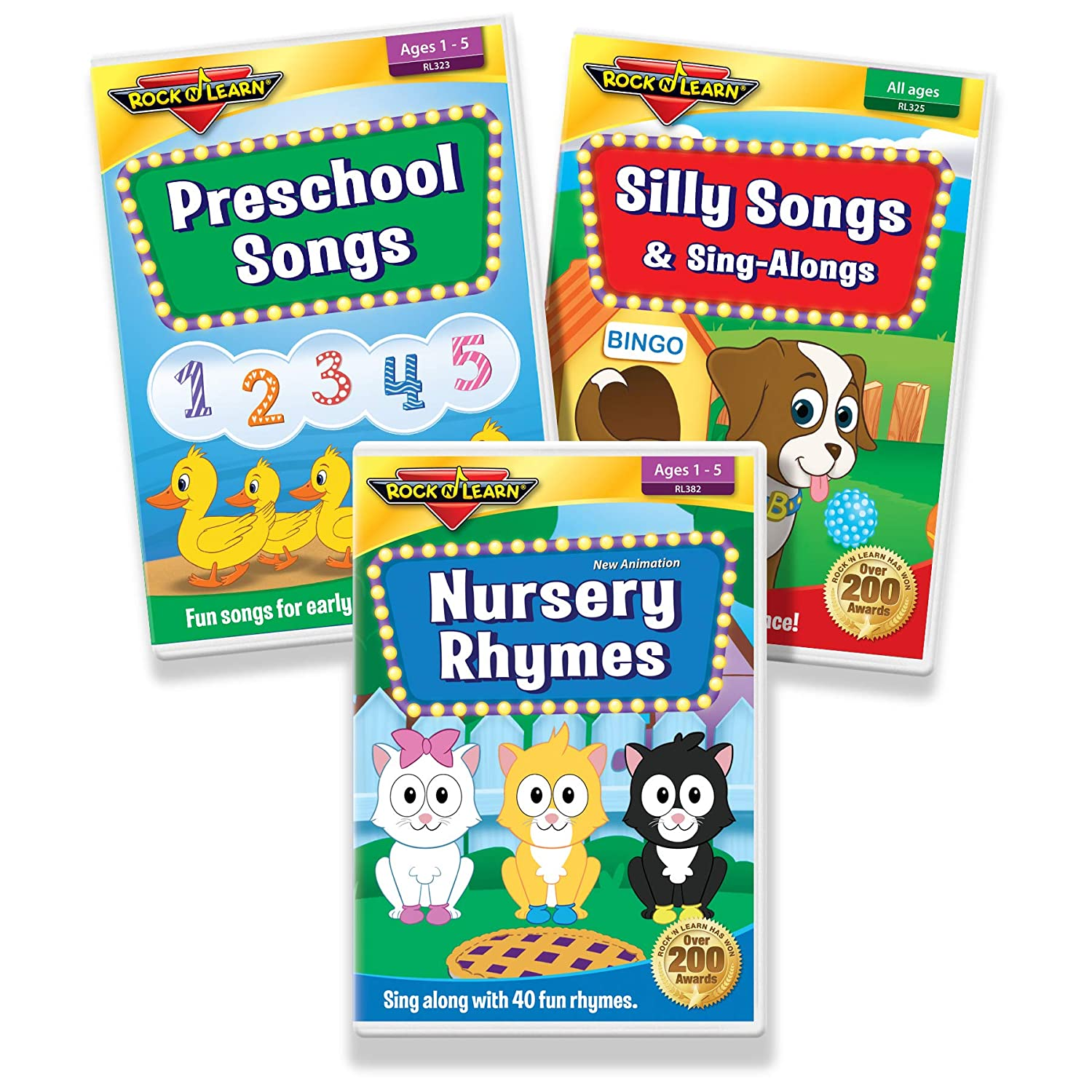 Preschool Songs for Kids 3 DVD Collection - Nursery Rhymes, Preschool Songs, and Silly Songs