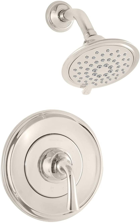 American Standard TU106507.013 Patience Trim Kit with Water-Saving Shower Head and Cartridge, Polished Nickel