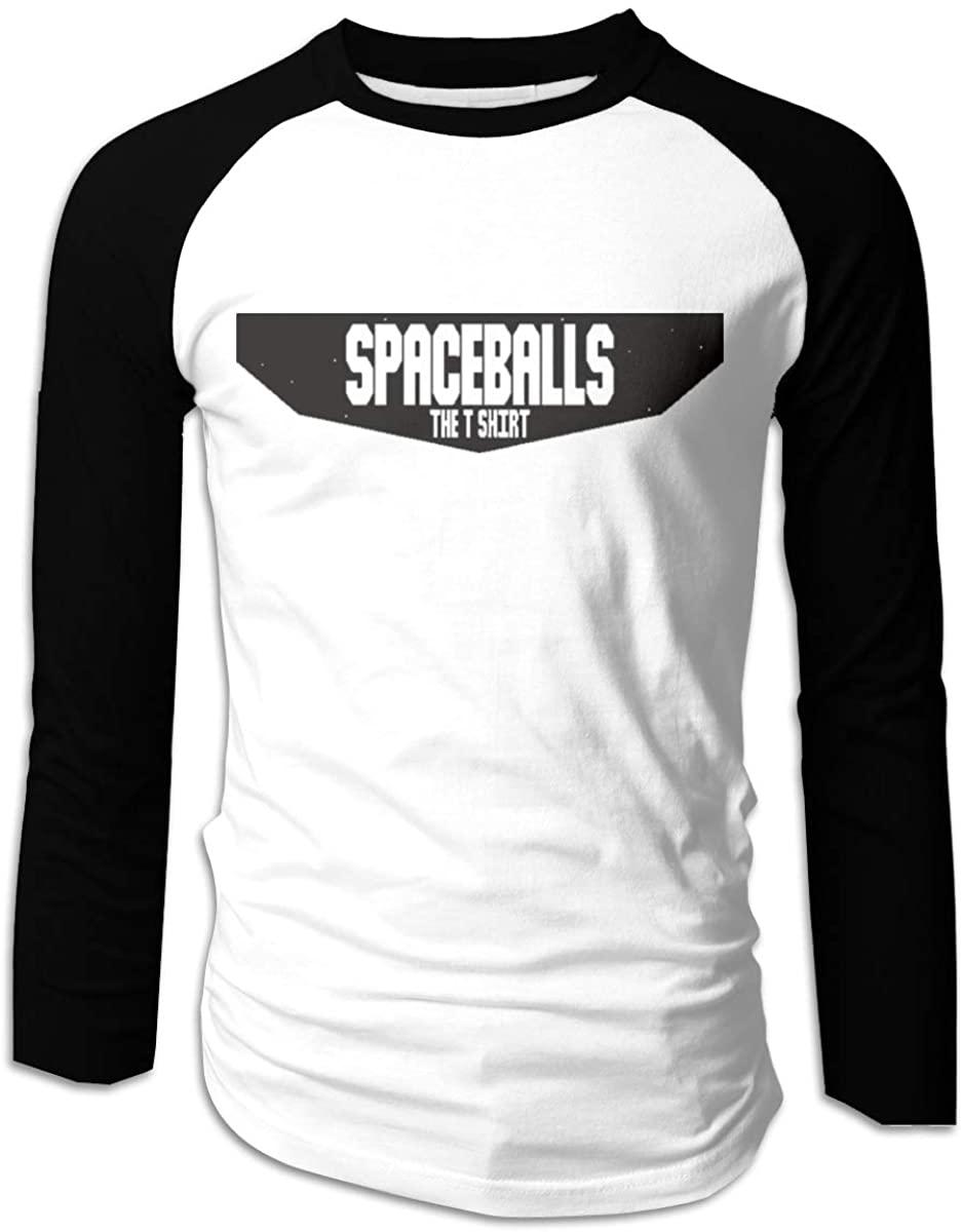 Donmlier Mens Basic Spaceballs The Shirt Logo Gift Long Sleeve Raglan Baseball Tee