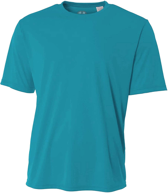 Mens Rash Guard Surf Swimwear Swim Shirt SPF Sun Protection Loose Fit Fitting (XXXX-Large, Teal)