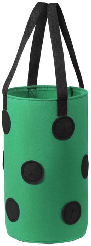 NKLC Vegetable Flower Plant Grow Bags, Strawberry Planting Bags, Potato Container Grow Bags Planting Bag, Premium Breathable Cloth Bags with Handles(Green)