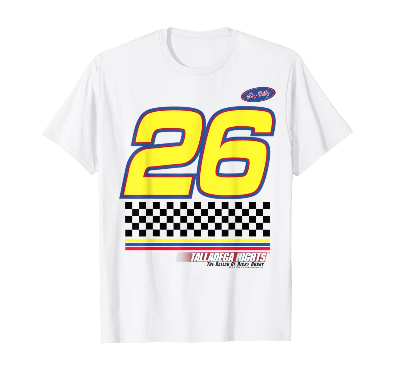 Talladega Nights #26 Racing Checkered Flag Logo T-Shirt