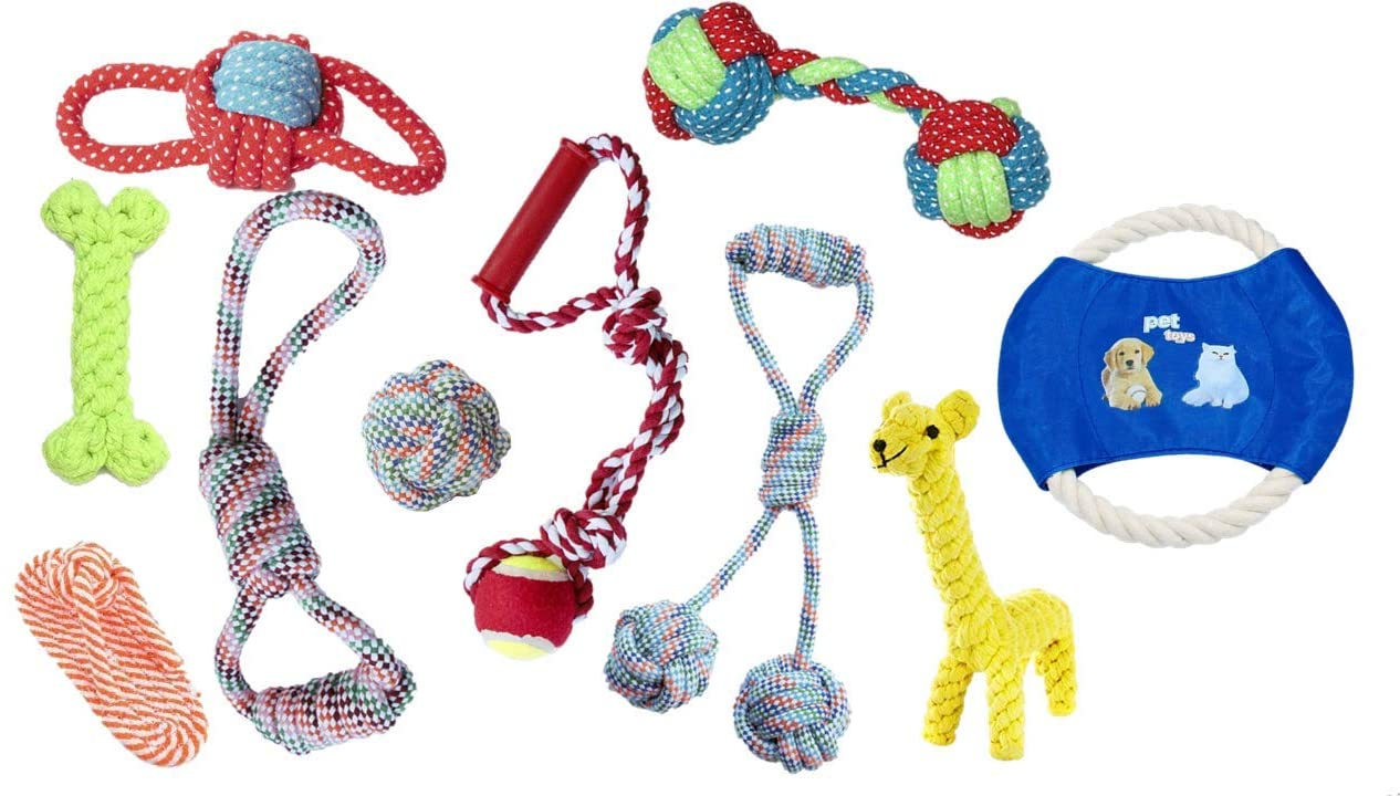 Pet Cotton Rope Chew Toys Interactive Toys Teething Puppy Chew Toys for Small and Medium Dog