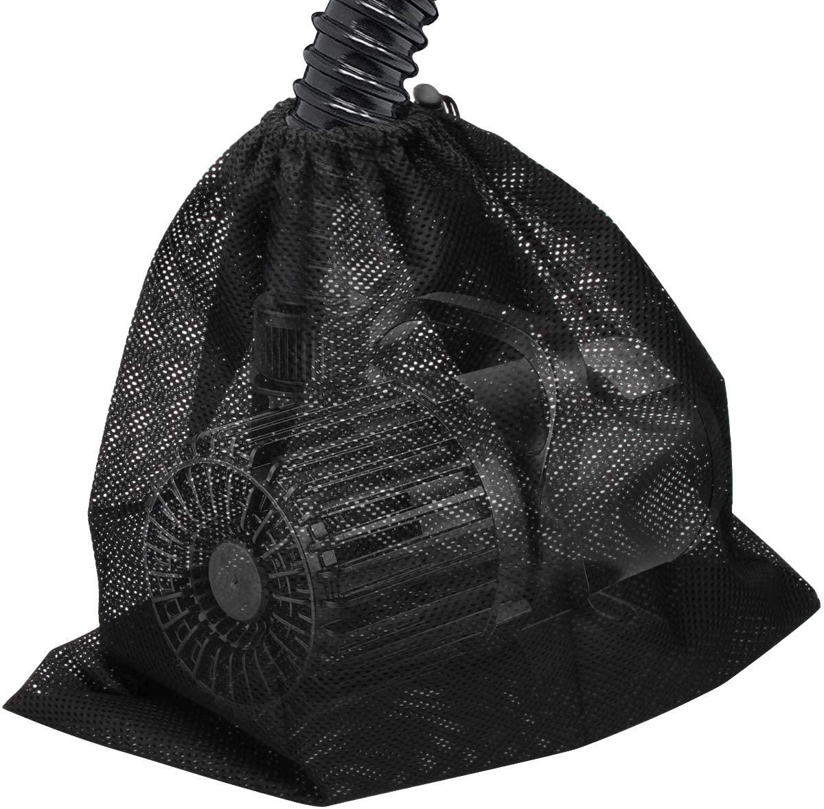 Catcan Pond Pump Filter Bag, Pump Barrier Mesh Bag, Pump Barrier Bag, Suitable for Most Pumps, Nylon Material Fabric, Bag Size 12