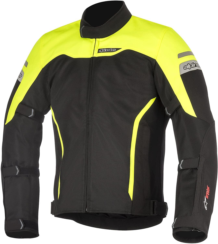 Alpinestars Men's Leonis Drystar Air Motorcycle Jacket, Black/Yellow, Large