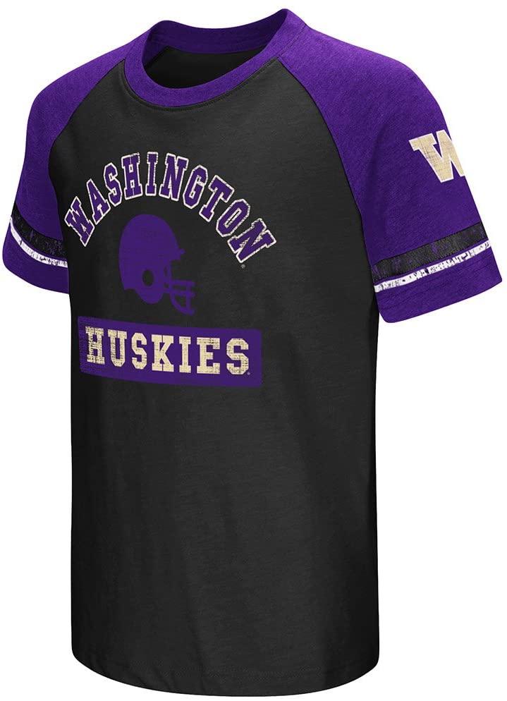 Colosseum Washington Huskies Youth Raglan All Pro Short Sleeve T-Shirt
