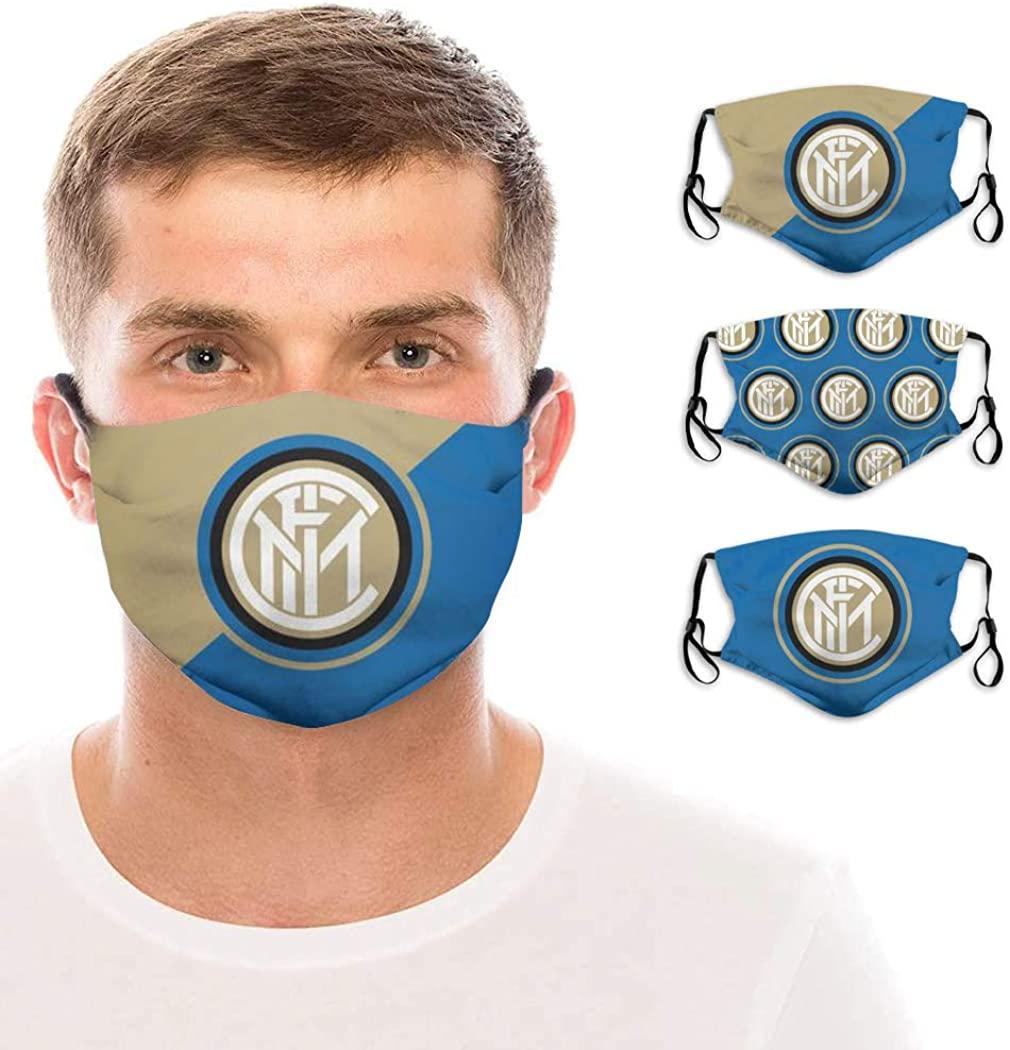 Football Team_Mask Face Soccer Team Washable Reusable for Men Women Sports Outdoors 3 Pack