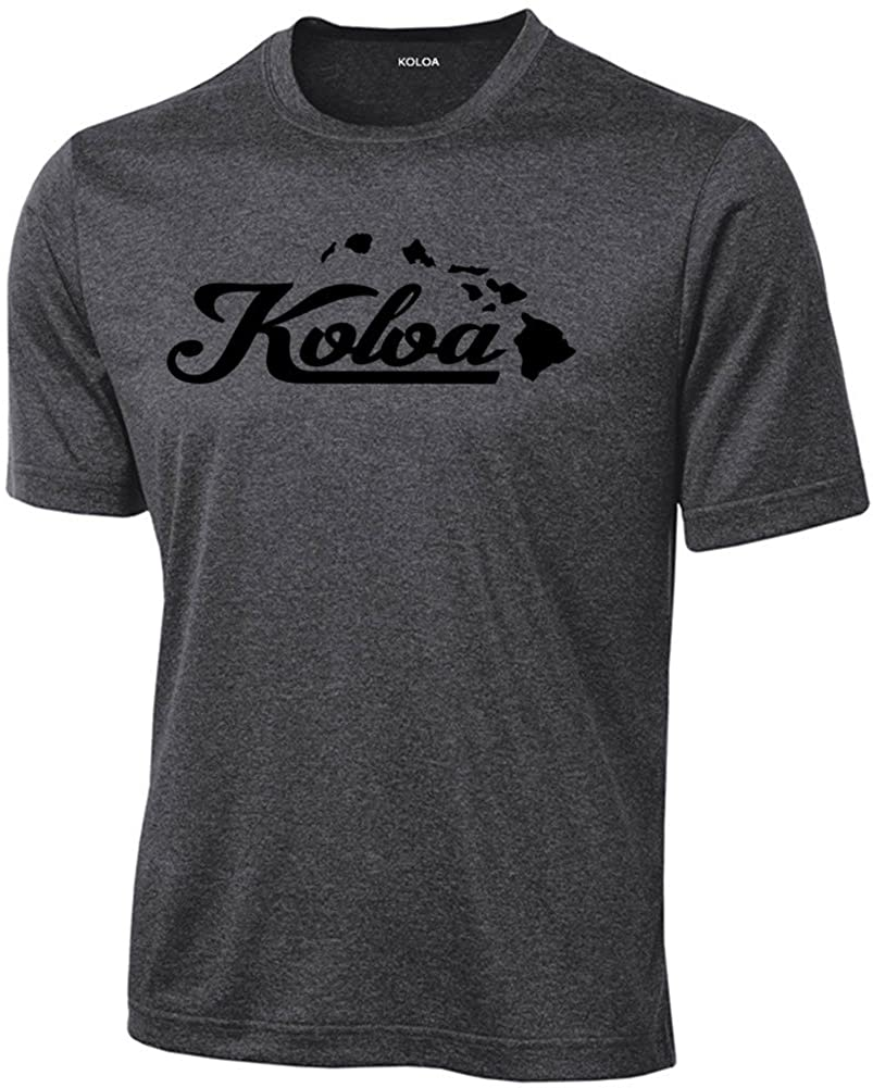 Joe's USA Koloa Surf Moisture Wicking Islands Logo Shirt-4XL-DarkHeath/b