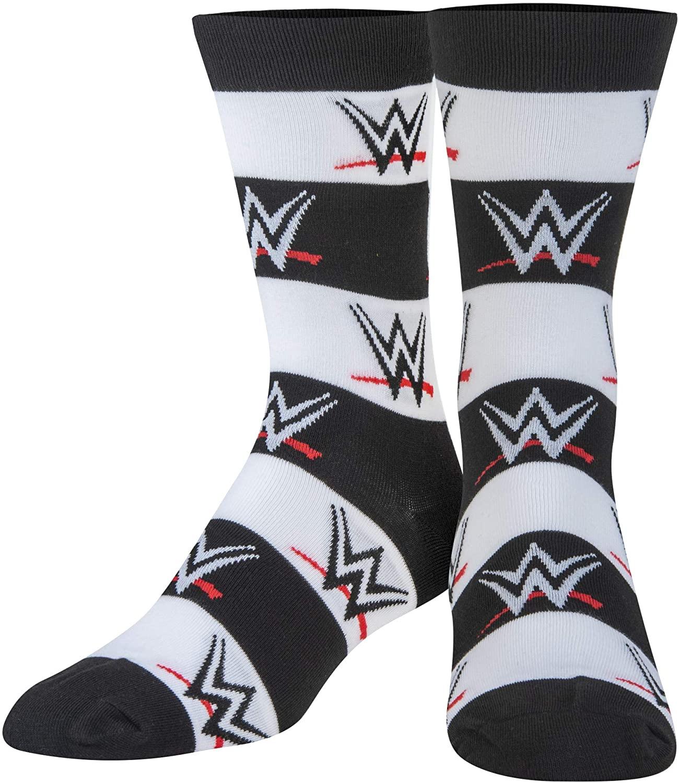 Crazy Socks, Unisex, WWE Wrestling, Ring Legends, Crew Socks, Novelty Silly Fun