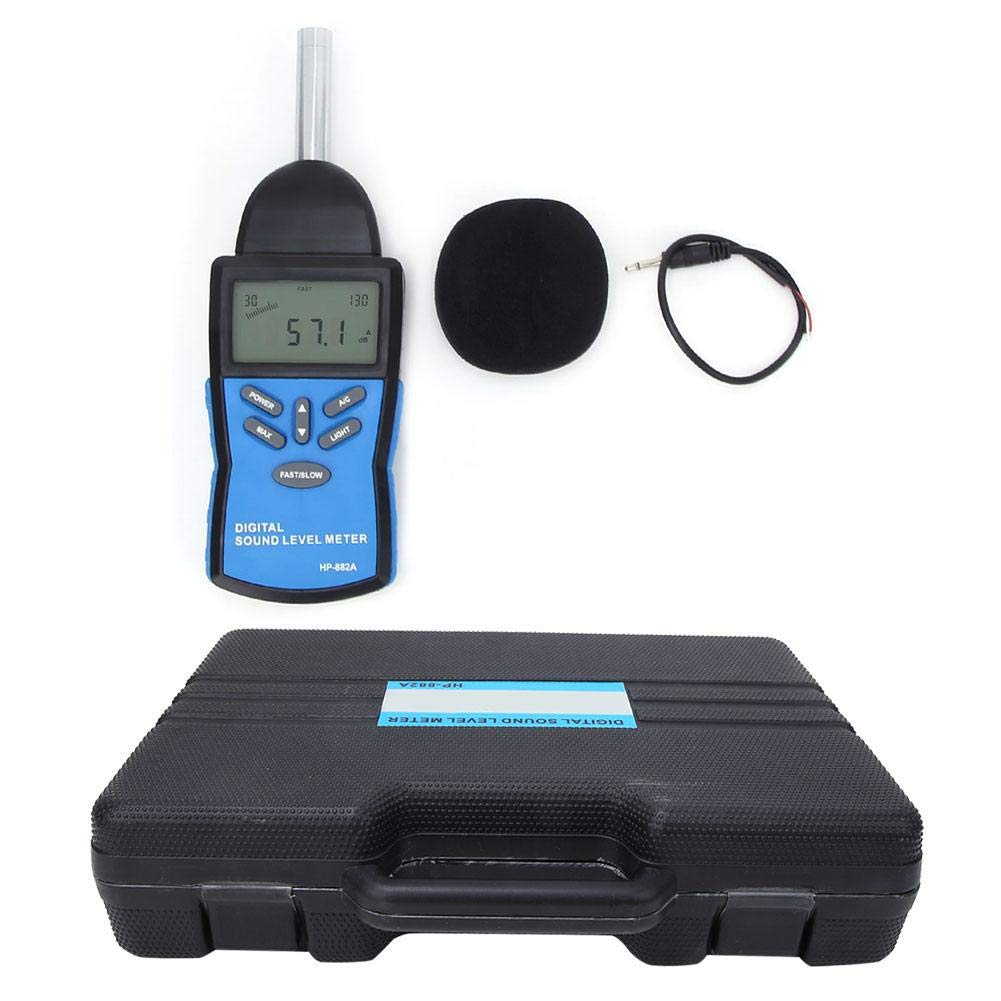 Noise Sound Level Meter,HP-882A LCD Digital Sound Level Meter Noise Detect Tester Data Decibel Measurement 30-130dB