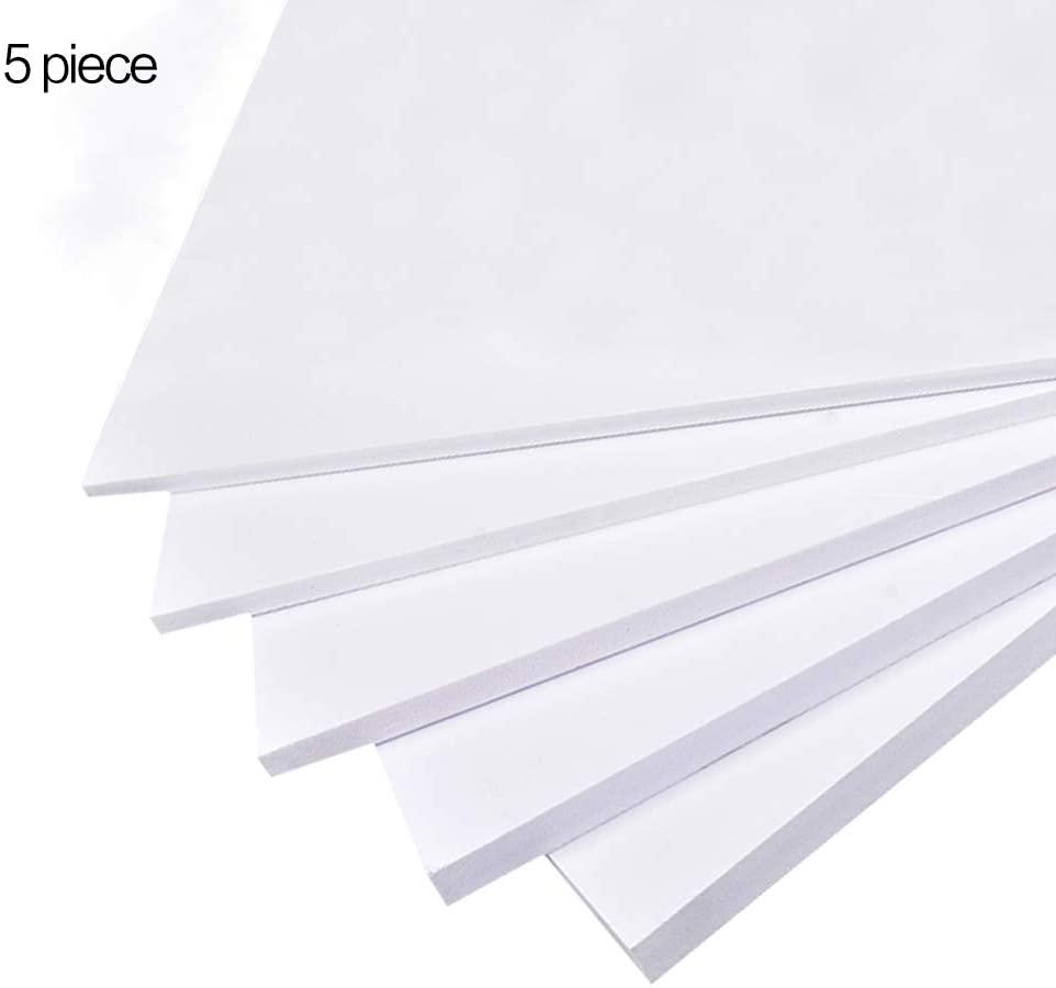 LOKIH Foam Board High-Density Double Sided for Presentations Thick:0.1cm/0.04inch,5 pcs,10x20cm/3.9x7.9inch
