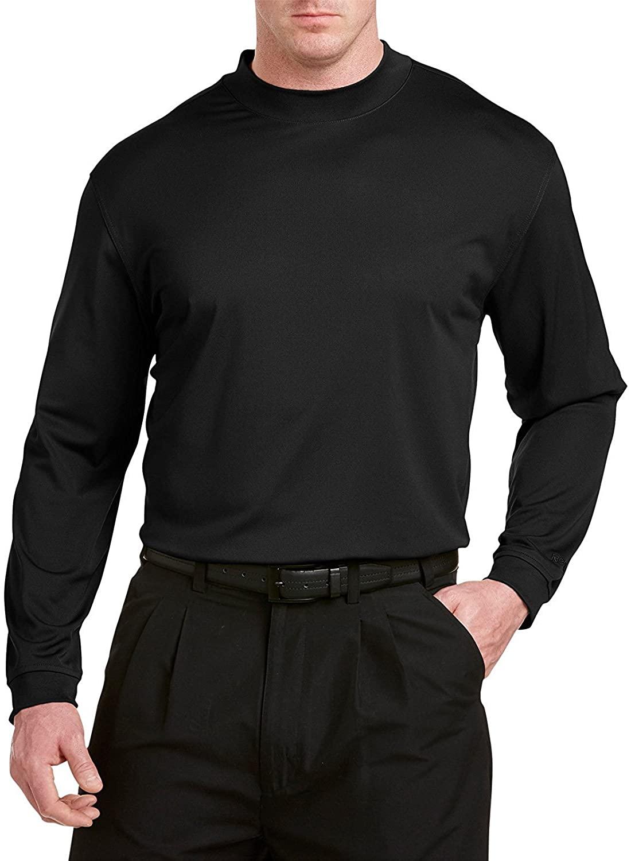 Reebok Big and Tall Golf Long Sleeve Play Dry Mockneck T-Shirt Black