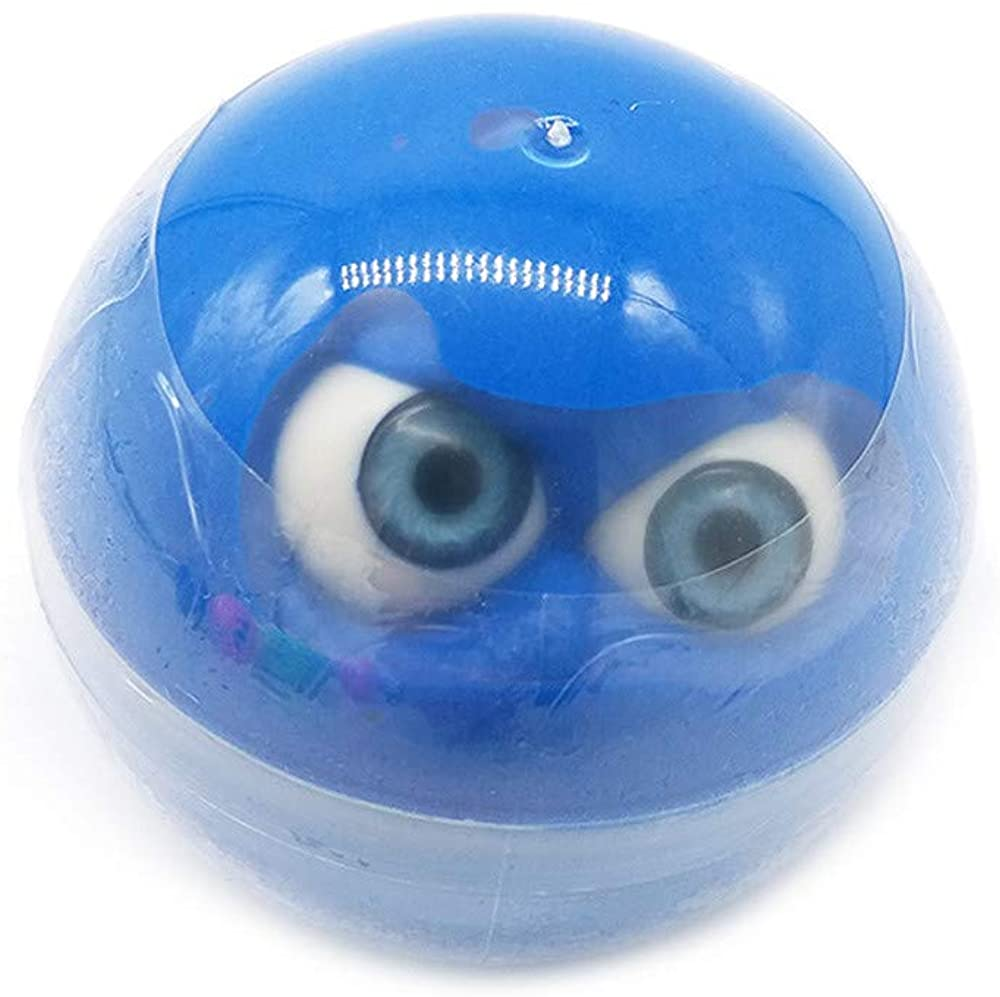 Slime Sludge Fluff Mud Toy, Routinfly Stress Relief Scented Slime Toy Halloween Eyeball Mixing Cloud Clay for Any Kids and Adults (Blue)