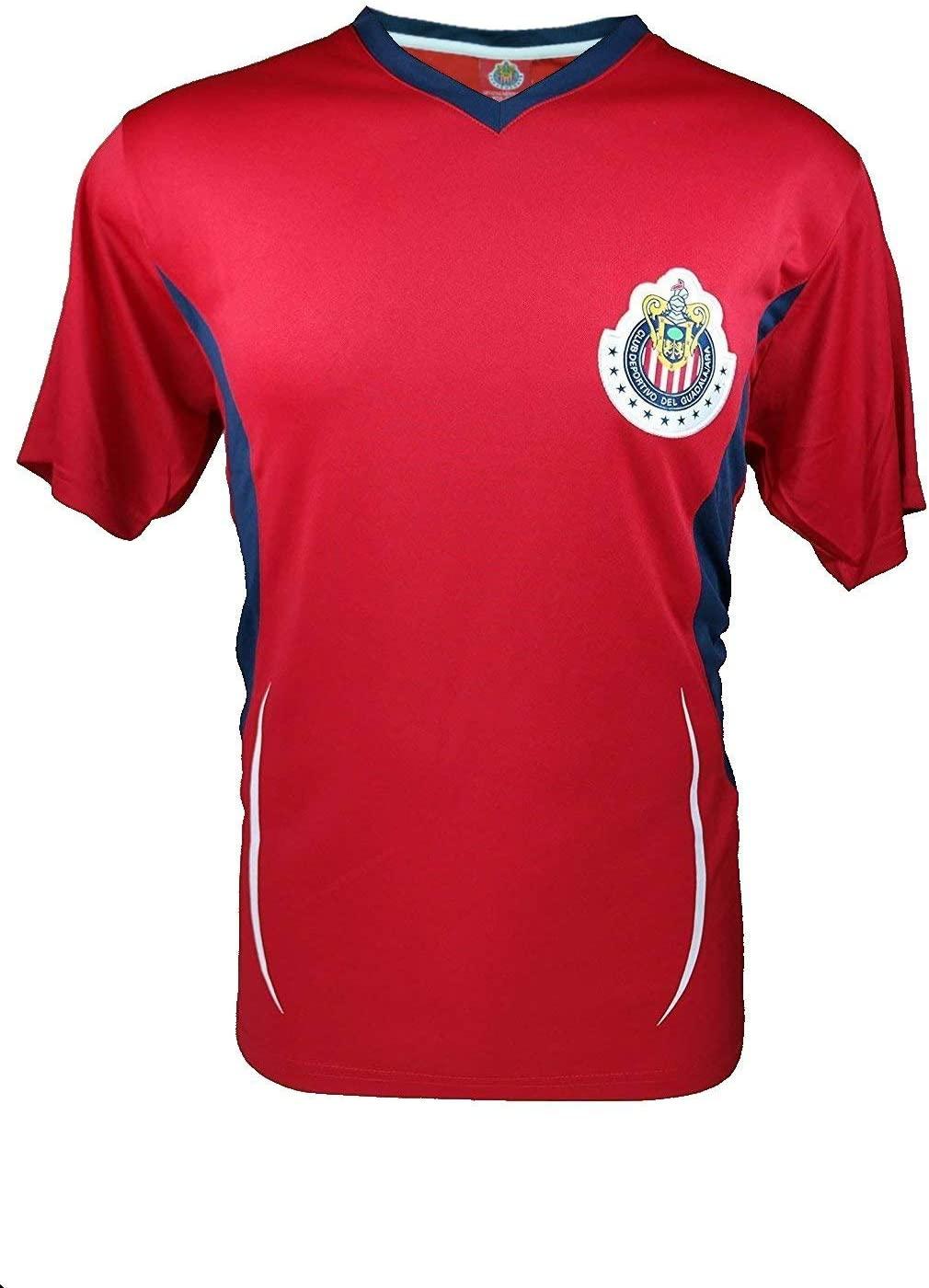 RhinoxGroup Adult Chivas De Guadalajara Official Soccer Poly Jersey Shirt -001
