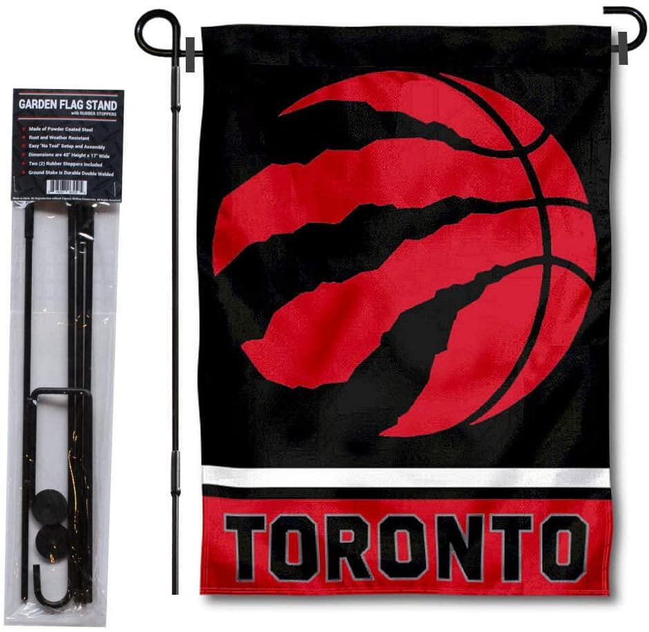 WinCraft Toronto Raptors Garden Flag with Stand Holder