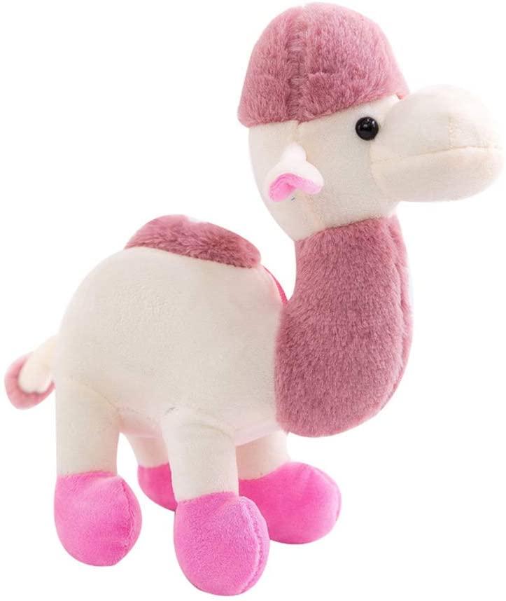 TOYANDONA Cute Plush Toy Soft Stuffed Camel Doll Stuffed Animal Toy Gift for Children Adults (Pink)