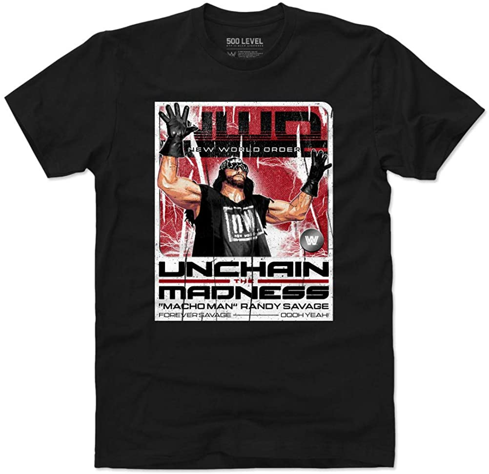 500 LEVEL Macho Man Shirt - WWE Mens Apparel - Macho Man NWO Card