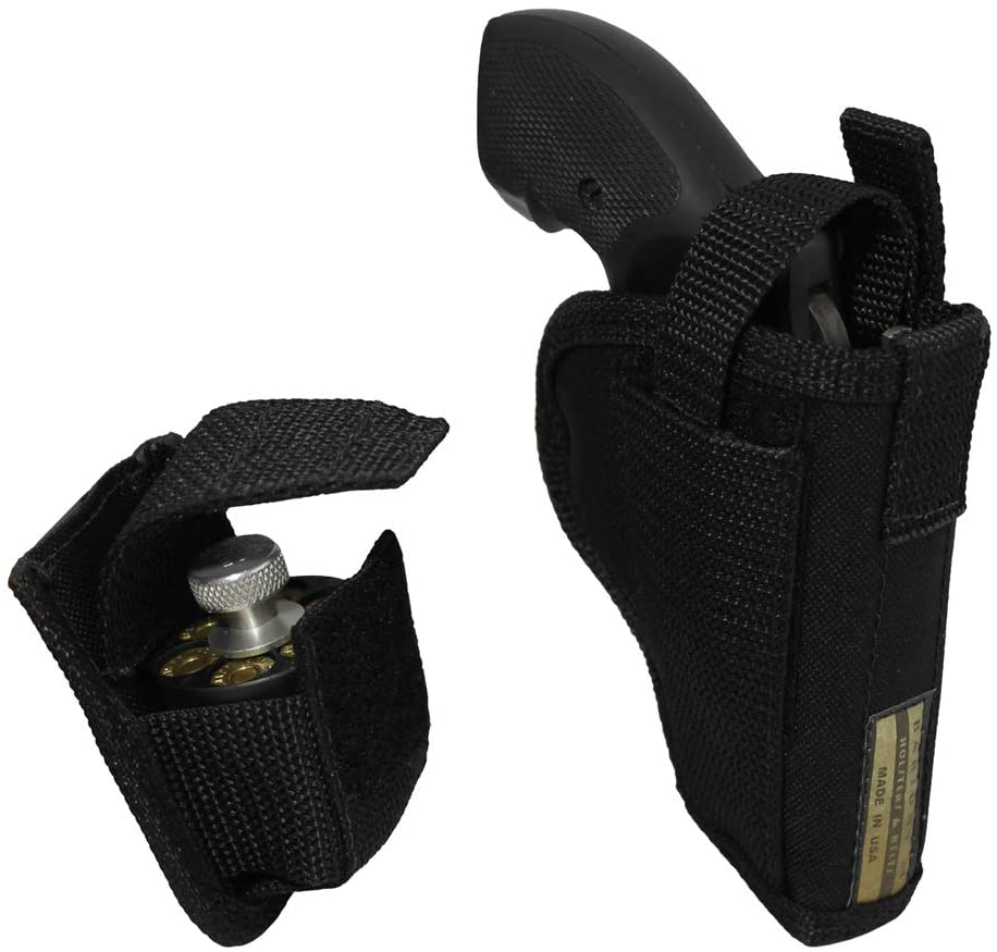 Barsony New OWB Holster + Speed-Loader Pouch for 2